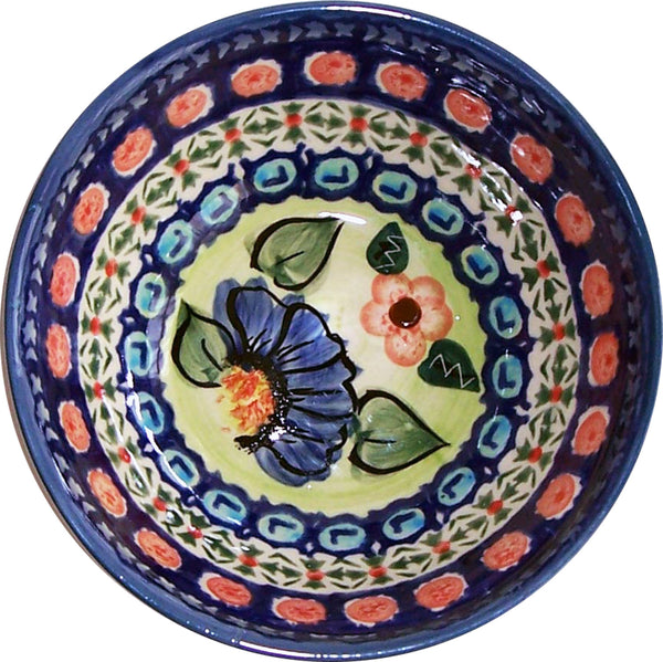 "Boleslawiec Polish Pottery UNIKAT Ice Cream or Condiment Bowl ""Patricia"""