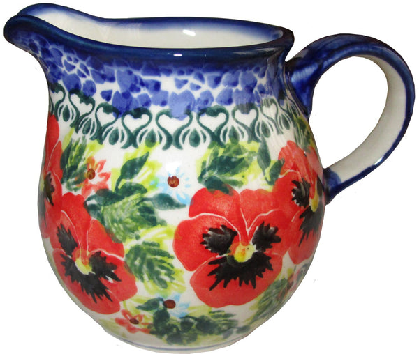 "Boleslawiec Polish Pottery UNIKAT Creamer ""Summer Day"""