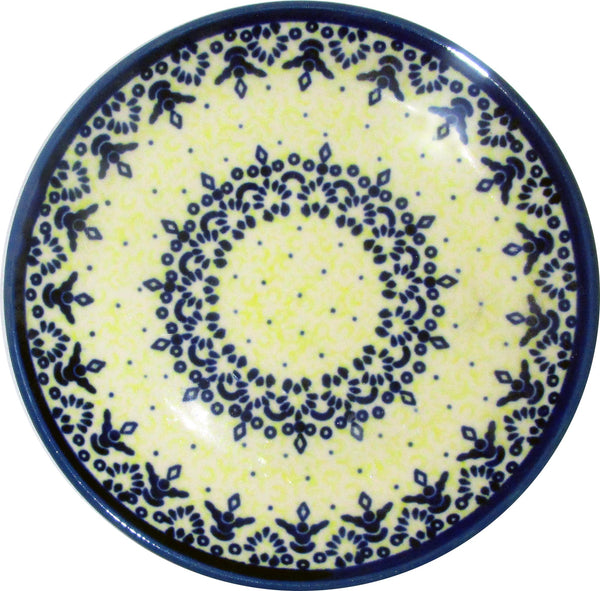 "Boleslawiec Polish Pottery UNIKAT Breakfast, Salad or Dessert Plate ""Lace"""