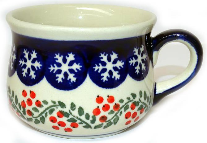 "Boleslawiec Polish Pottery Expresso Cup ""Red Berries"""