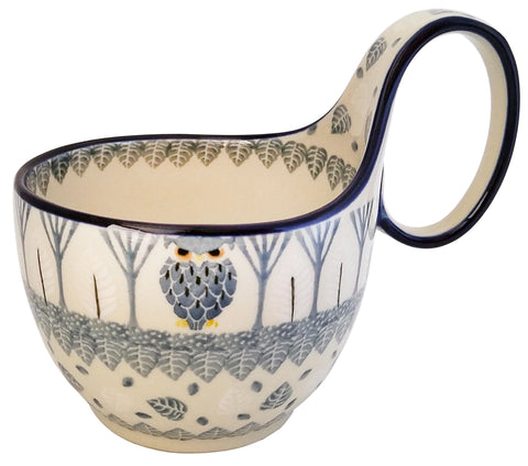 Boleslawiec Polish Pottery Bowl with Loop Handle Unikat 4872