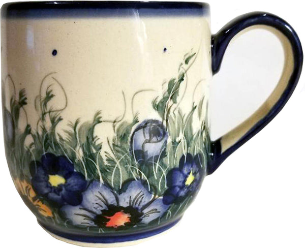 "Boleslawiec Polish Pottery UNIKAT Ladies Mug 10 Oz ""Wild Field"""
