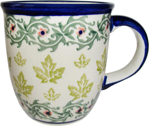 "Boleslawiec Polish Pottery UNIKAT Coffee or Tea Mug ""Vermont"""
