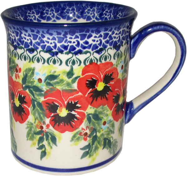 "Boleslawiec Polish Pottery UNIKAT Coffee or Tea Mug ""Summer Day"""
