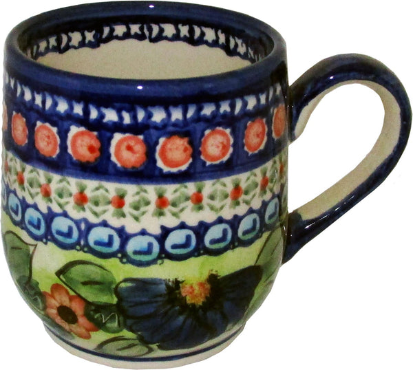 "Boleslawiec Polish Pottery UNIKAT Coffee or Tea Ladies Mug 10 oz ""Patricia"""