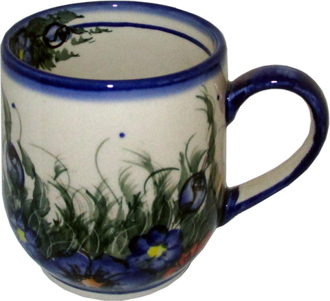 Boleslawiec Polish Pottery UNIKAT Ladies Mug 10 Oz