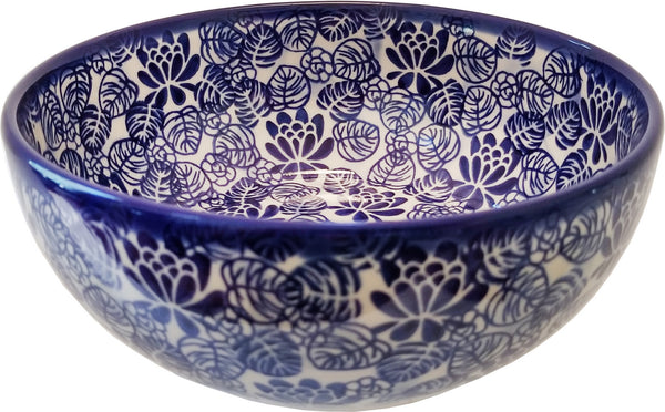 "Boleslawiec Polish Pottery Pasta or Soup Serving Bowl Unikat ""Madeline"" by Eva's Collection"