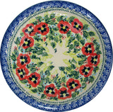 "Boleslawiec Polish Pottery UNIKAT Soup or Pasta Plate ""Summer Day"""