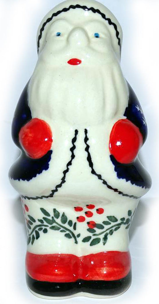 "Boleslawiec Polish Pottery Christmas Decoration - Santa ""Red Berries"""