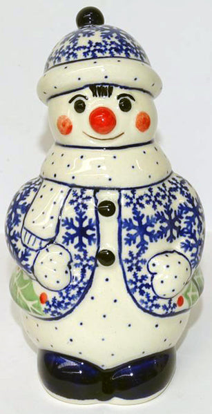 "Boleslawiec Polish Pottery Christmas Decoration Snowman ""Holly"""