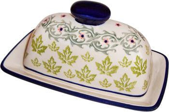 Polish Pottery America Style Butter DishVermont