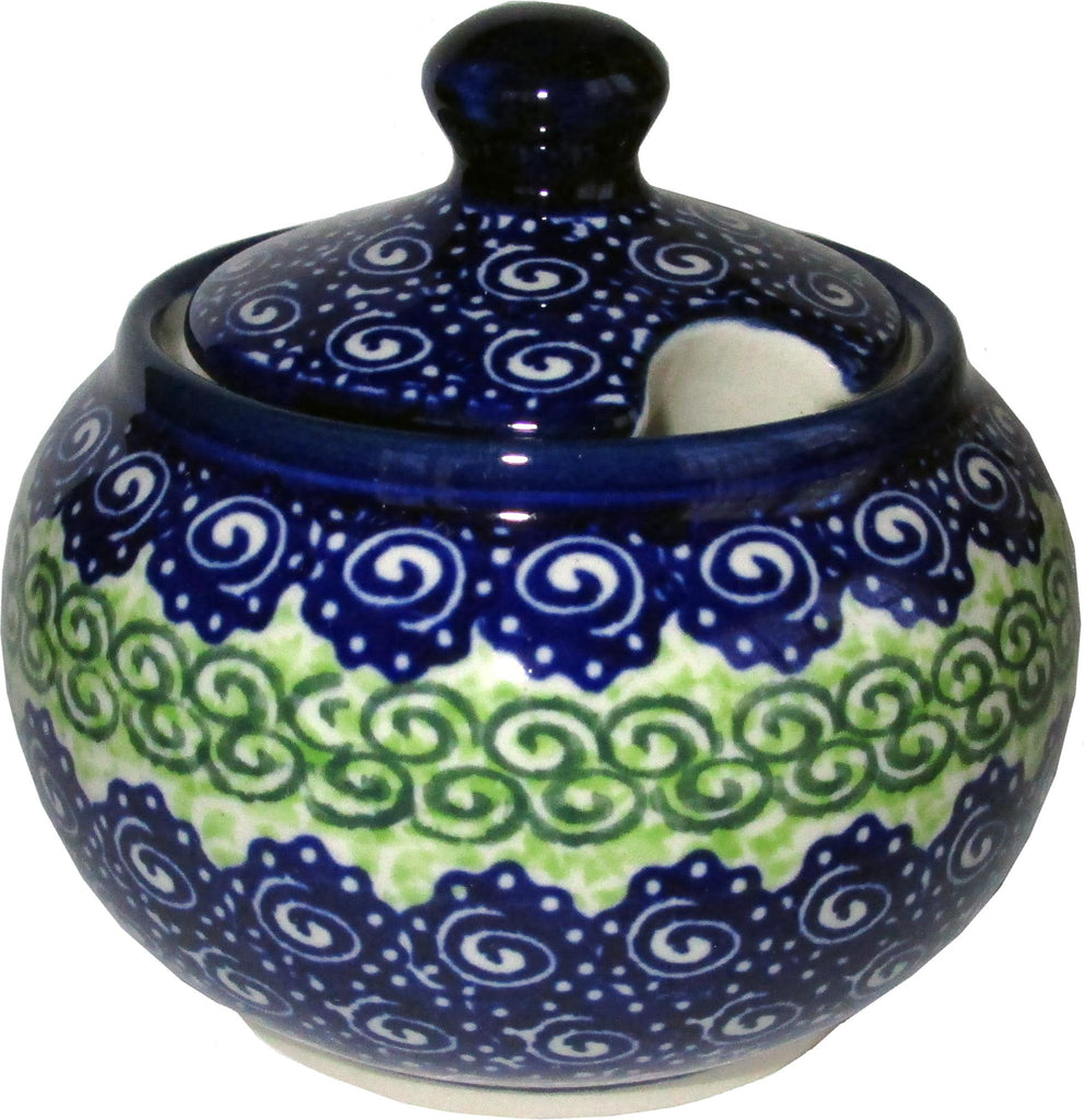 "Boleslawiec Polish Pottery UNIKAT Sugar Bowl ""Alex"""