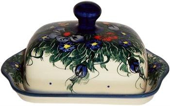 Polish Pottery Butter DishWild Field