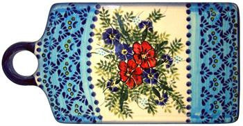 Boleslawiec Polish Pottery UNIKAT Cutting or Cheese Board or Trivet
