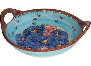 Serving Bowl with HandlesBlue Sky Meadow