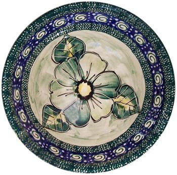 Polish Pottery Bowl SmallGreen Garden