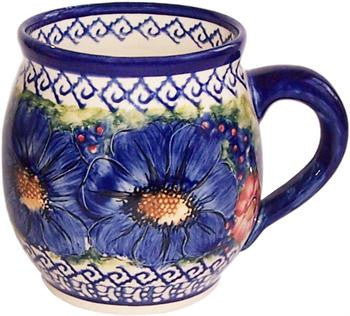 Boleslawiec Polish Pottery UNIKAT 16oz Coffee or Tea Bubble Mug