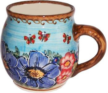 Polish Pottery Bubble MugBlue Sky Meadow