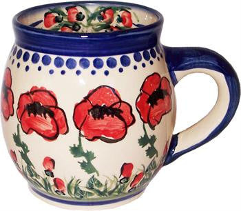 Boleslawiec Polish Pottery UNIKAT Coffee or Tea Bubble Mug 16 Oz