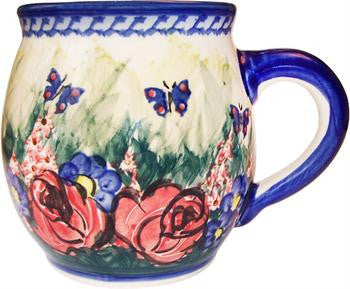 Polish Pottery Bubble MugWild Roses