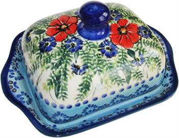 Polish Pottery Butter DishVeronica