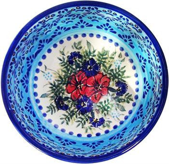 Polish Pottery Cereal or Chili BowlVeronica