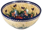 Polish Pottery Cereal of Chili BowlWild Roses