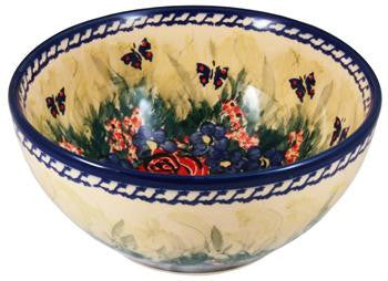 Boleslawiec Polish Pottery UNIKAT Cereal or Chili Serving Bowl