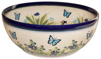 Polish Pottery Cereal or Chili BowlSerenity