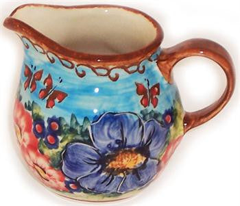 Polish Pottery CreamerBlue Sky Meadow