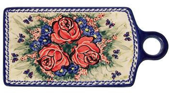 Boleslawiec Polish Pottery UNIKAT Cutting Cheese Board or Trivet