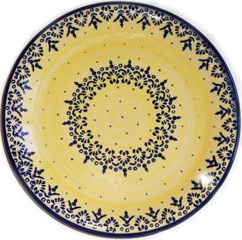 Polish Pottery Dinner PlateLace
