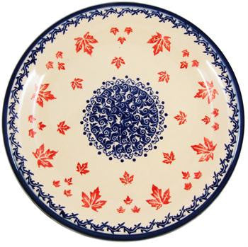 Polish Pottery Dinner PlateMaple Leaf