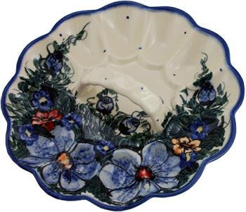 Polish Pottery Egg PlateWild Field