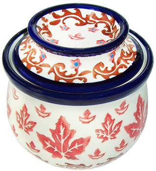 Boleslawiec Polish Pottery French Butter Dish
