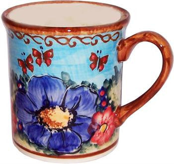 Polish Pottery Coffee or Tea MugBlue Sky Meadow