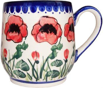 Polish Pottery Ladies MugPoppy Field
