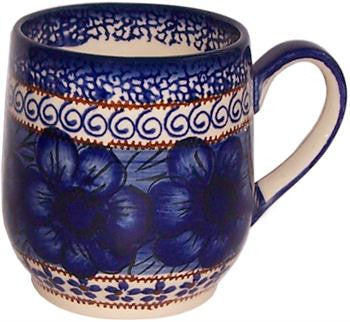 Polish Pottery Ladies MugBlue Garden