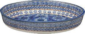 Large Oval Baking DishBlue Garden
