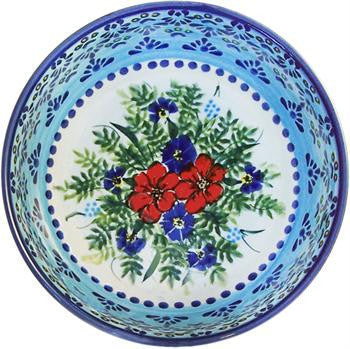 Boleslawiec Polish Pottery UNIKAT Pasta or Soup Serving Bowl