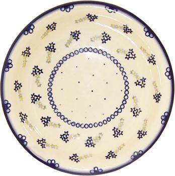 Polish Pottery Soup or Pasta PlateForget-Me-Not