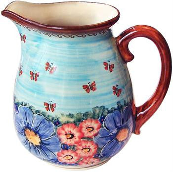 Polish Pottery 2L PitcherBlue Sky Meadow