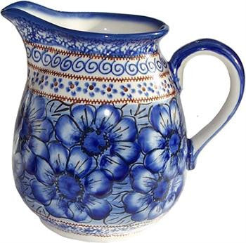 Polish Pottery 2L Pitcher Blue Garden
