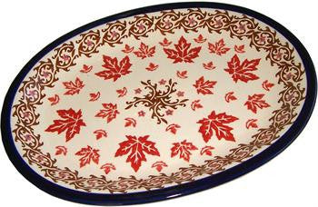 Polish Pottery Oval Serving Platter