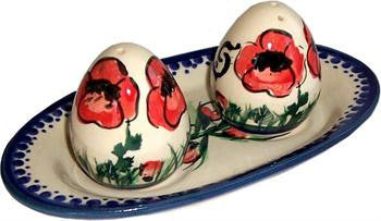 Boleslawiec Polish Pottery UNIKAT Salt and Pepper Set