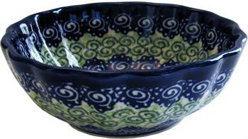 Polish Pottery Ice Cream Scalloped BowlAlex