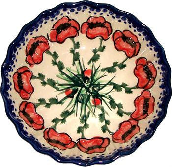 Boleslawiec Polish Pottery UNIKAT Medium Scalloped Bowl