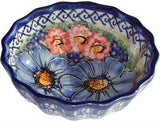 Polish Pottery Ice Cream Scalloped Bowl Isabelle