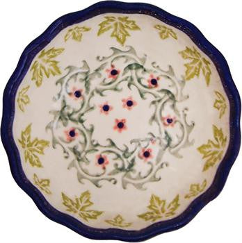Polish Pottery Scalloped Ice Cream BowlVermont