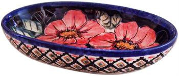 Boleslawiec Polish Pottery UNIKAT Small Oval Baking Dish